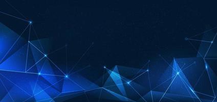 paisaje digital futurista abstracto con puntos de partículas en horzontal vector