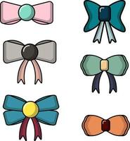 simple cute set of bow perfect for design project vector