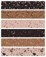 Set of terrazzo style seamless patterns. Premium Vector
