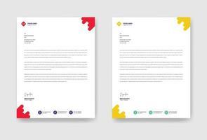 Modern corporate letterhead template