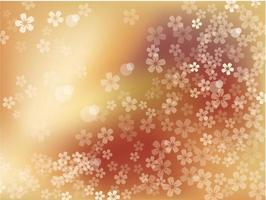 flores de cerezo de oro en plena floración. vector ilustración de fondo floral.