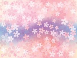 Seamless Vector Background Illustration With Cherry Blossoms In Full Bloom. Horizontally And Vertically Repeatable.