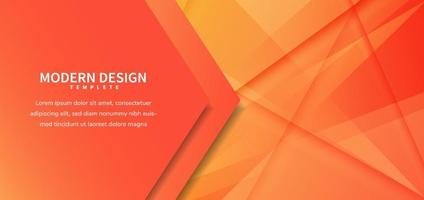 Template vector. Abstract orange diagonal background for business, banner, for announcement. vector