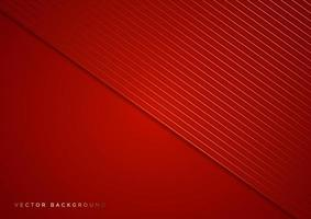Abstract stripes golden lines diagonal overlap on red background. Luxury style. vector
