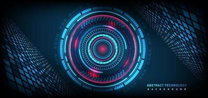 Fondo abstracto de tecnología futurista. elemento de círculo de hud. concepto de comunicación de alta tecnología. vector