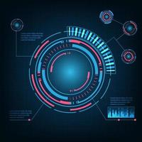 Abstract Futuristic Technology Background. HUD circle element. Hi-tech communication concept. vector
