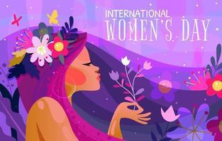 día internacional de la mujer 8 de marzo vector