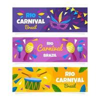 Rio Festival Brazil Banner Collection vector