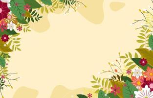 Floral Spring Background With Beautiful Flower vector