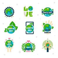 Happy Earth Day Icon vector