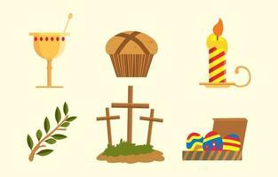 Happy Easter Icon Concept vector