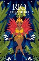 concepto de cartel del festival de disfraces de río vector