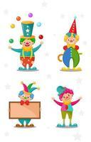 Clown Cartoon Character vector