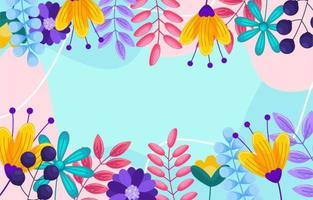Spring Flat with Colorful Background vector