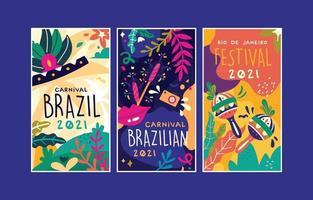 banner de ilustración colorida vectorial para el festival de río de janeiro brasil vector