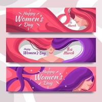 Women's Hair for Women's Day Banner vector