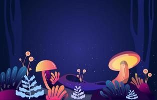 Fantasy Forest Landscape Background vector