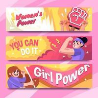 Women Power for Women's Day Celebration vector