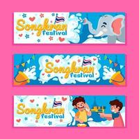 The Happiness of The Songkran Festival vector