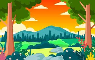 Beauty Nature Spring Background vector