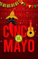 Happy Cinco De Mayo Concept vector
