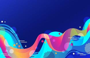 Liquid abstract colorfull background vector