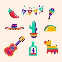 Cinco De Mayo Handdrawn Icon vector