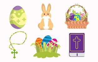 Happy Easter Cute Icon Concept vector