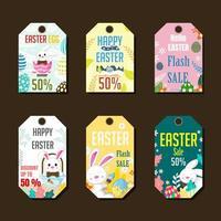 Easter Marketing Label Set vector