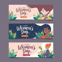 Set of Womens Day 8 March Banner