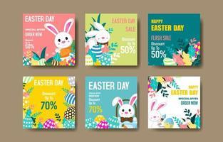 Easter Marketing Social Media Post vector
