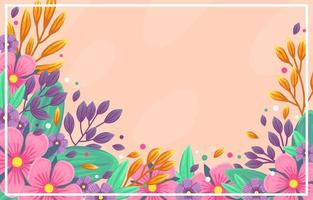 Colorfull flower spring background vector