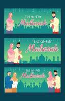 Muslim Eid Fitr Banner Concept