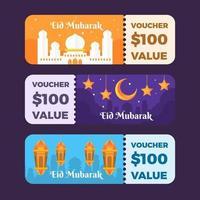 Eid Mubarak Voucher Collection vector