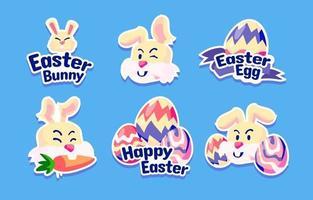Easter Egg and Rabbit Sticker Set