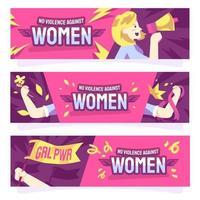 No Violence Against Women Banner