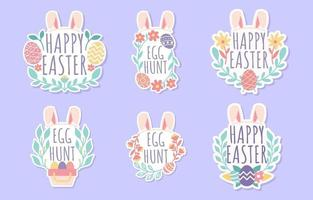 Easter Sticker with Floral Decoration Collection