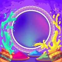 Holi Fest Background vector