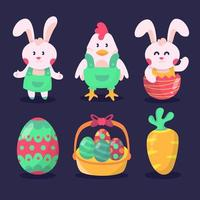 Easter icon set collections
