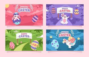 Cute Easter Festivity Banner vector
