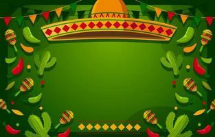 Fun Green at Cinco De Mayo Background vector
