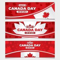 colección de carteles del día de canadá vector