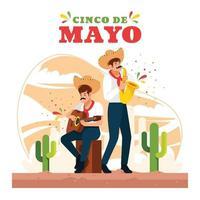 Cinco De Mayo Celebration Background vector