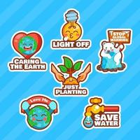 Cute Character of Care for Earth
