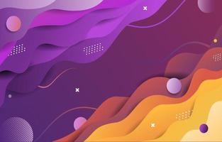 Abstract Wavy Gradient Background vector