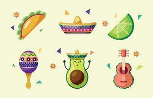Cinco De Mayo Icon Collection vector