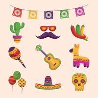 Cinco De Mayo Icon in Flat Design vector