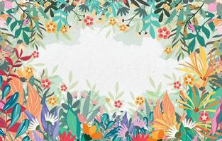 Spring Mood Background Border vector