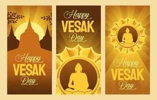 banner del día de vesak vector