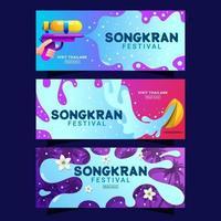 Songkran Festival Banner Collection vector
